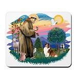 St. Francis #2 / Sheltie (sw) Mousepad
