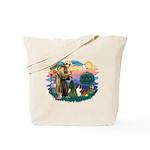 St. Francis #2 / Sheltie (sw) Tote Bag