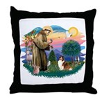 St. Francis #2 / Sheltie (sw) Throw Pillow
