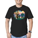 St. Francis #2 / Sheltie (sw) Men's Fitted T-Shirt