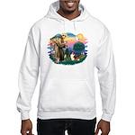 St. Francis #2 / Sheltie (sw) Hooded Sweatshirt