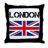 London Union Jack Throw Pillow