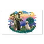St. Francis #2 / Yellow Lab Sticker (Rectangle)