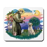 St. Francis #2 / Yellow Lab Mousepad