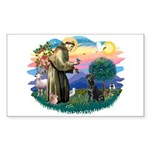 St.Francis #2 / Black Lab Sticker (Rectangle)