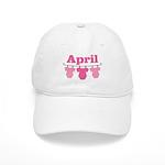 Pink April Baby Announcement Cap