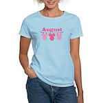 Pink August Baby Announcement Women's Light T-Shir