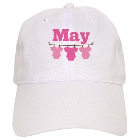 Pink May Baby Announcement Cap