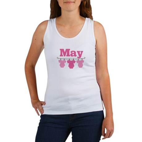 Pink May Baby Announcement Women's Tank Top