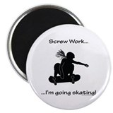 Screw Work-I'm Going Skating (Girl Skater) Magnet
