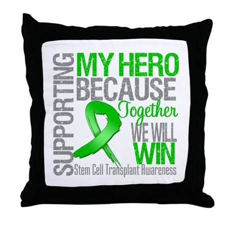 Supporting SCT Hero Throw Pillow