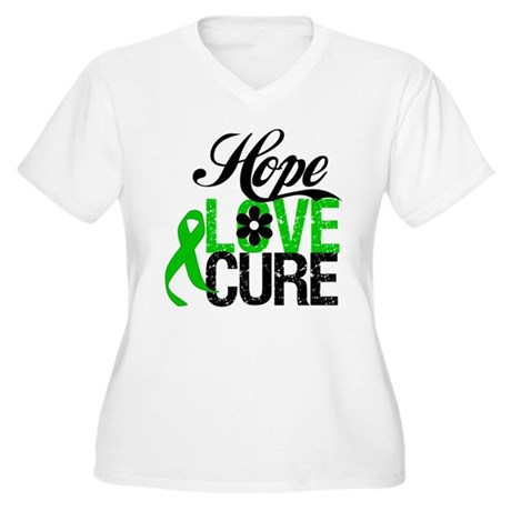 SCT Hope Love Cure Women's Plus Size V-Neck T-Shir