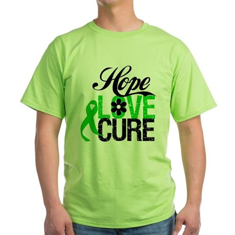 SCT Hope Love Cure Green T-Shirt
