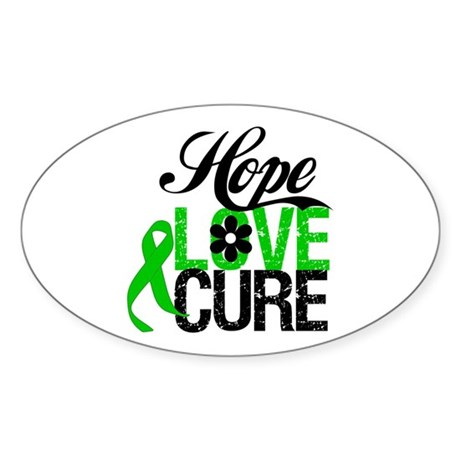 SCT Hope Love Cure Sticker (Oval)