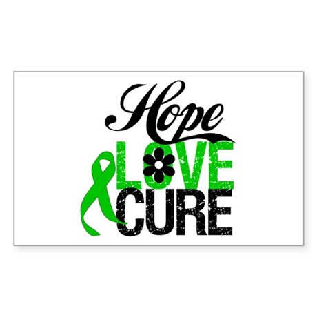 SCT Hope Love Cure Sticker (Rectangle 10 pk)