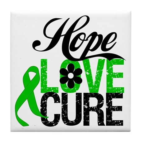 SCT Hope Love Cure Tile Coaster