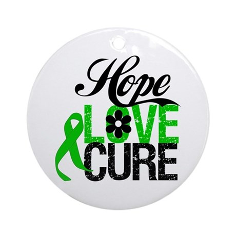 SCT Hope Love Cure Ornament (Round)