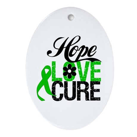 SCT Hope Love Cure Ornament (Oval)
