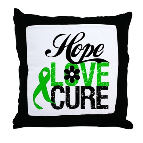 SCT Hope Love Cure Throw Pillow