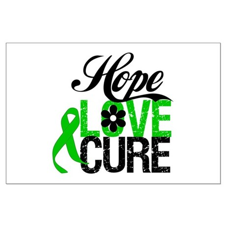 SCT Hope Love Cure Large Poster