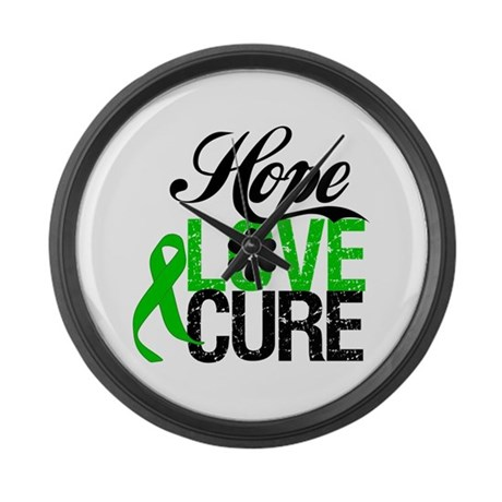 SCT Hope Love Cure Large Wall Clock