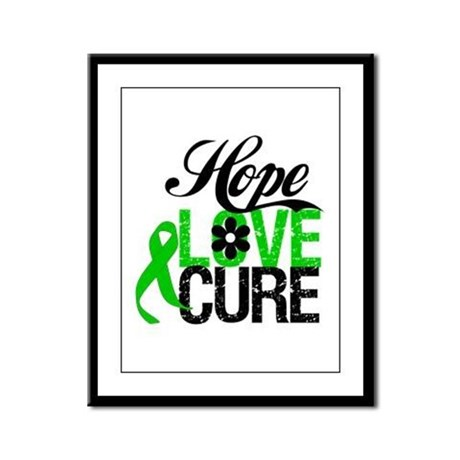 SCT Hope Love Cure Framed Panel Print