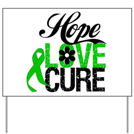 SCT Hope Love Cure Yard Sign