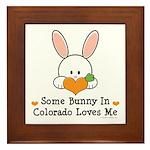 Some Bunny In Colorado Loves Me Framed Tile