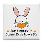 Some Bunny In Connecticut Tile Coaster