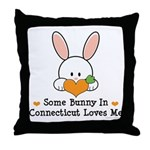 Some Bunny In Connecticut Throw Pillow