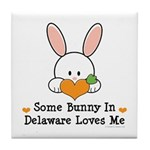 Some Bunny In Delaware Loves Me Tile Coaster