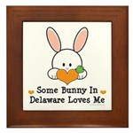 Some Bunny In Delaware Loves Me Framed Tile