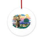 St.Francis #2 / Pekingese #1 Ornament (Round)