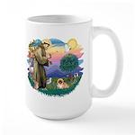St.Francis #2 / Pekingese #1 Large Mug