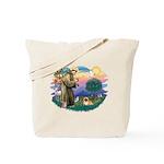 St.Francis #2 / Pekingese #1 Tote Bag