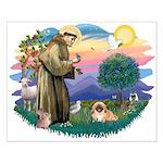 St.Francis #2 / Pekingese #1 Small Poster