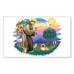 St.Francis #2 / Pekingese #1 Sticker (Rectangle 10