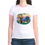 St.Francis #2 / Pekingese #1 Jr. Ringer T-Shirt