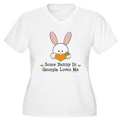 Some Bunny In Georgia Loves Me Women's Plus Size V