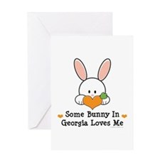 Some Bunny In Georgia Loves Me Greeting Card