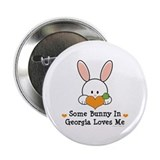 "Some Bunny In Georgia Loves Me 2.25"" Button (100 p"