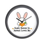 Some Bunny In Hawaii Loves Me Wall Clock