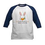 Some Bunny In Idaho Loves Me Kids Baseball Jersey