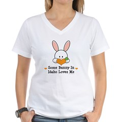 Some Bunny In Idaho Loves Me Women's V-Neck T-Shir