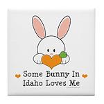 Some Bunny In Idaho Loves Me Tile Coaster