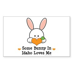 Some Bunny In Idaho Loves Me Sticker (Rectangle)