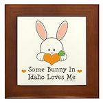 Some Bunny In Idaho Loves Me Framed Tile