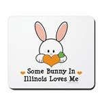 Some Bunny In Illinois Loves Me Mousepad