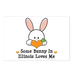 Some Bunny In Illinois Loves Me Postcards (Package