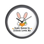 Some Bunny In Illinois Loves Me Wall Clock